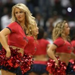 An Atlanta Hawks cheerleader strikes a pose while performing an on-court routine during Game Three of the Eastern Conference Quarterfinals between the Atlanta Hawks and the Boston Celtics during the 2008 NBA Playoffs at the Philips Arena on April 26, 2008 in Atlanta, Georgia. The Hawks beat the Celtics 102-93. NOTE TO USER: User expressly acknowledges and agrees that, by downloading and or using this photograph, User is consenting to the terms and conditions of the Getty Images License Agreement. (Getty Images)more pics »