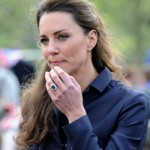Kate Middleton looks thoughtful while visiting Witton Country Park in Darwen, England
